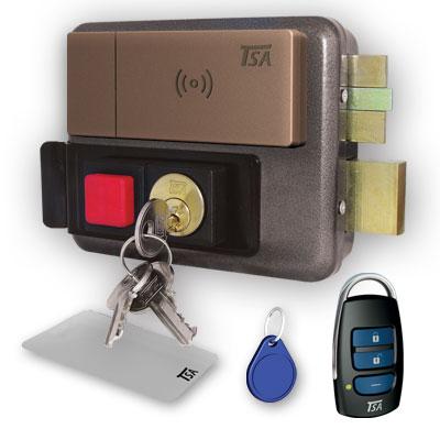 قفل حیاطی هوشمند بیرون بازشو تسا کلید کامپیوتری TSA 7085